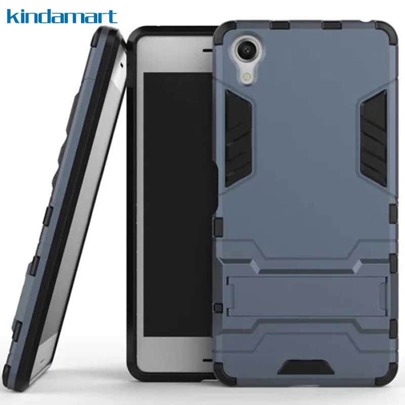 brand new 7c456 34128 Light Armor Phone Case For Sony Xperia X Performance Case For Sony X  Performance XP F8132 Shockproof Rugged TPU PC Back Cover