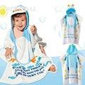 Bebé toallas de playa de playa vestido 100% algodón albornoz niño capote del bebé del cabo del bebé albornoces toalla de baño infantil toalla bebé