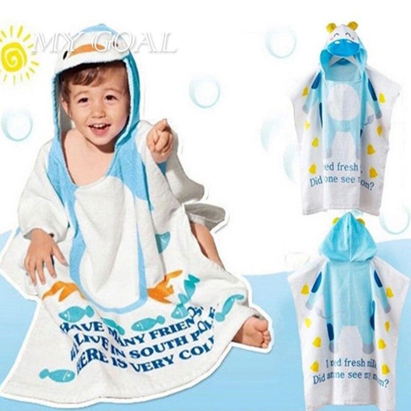 baby beach gown 100% cotton child bathrobe beach towels baby cloak cape baby bath towel child bathrobes baby towel