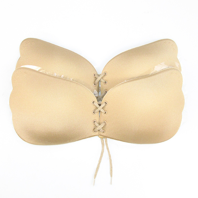 1 pc Sexy Women Strapless Backless Seamless Invisible Bra Self-Adhesive Push Up Free Stick On Wedding Dress Silicone