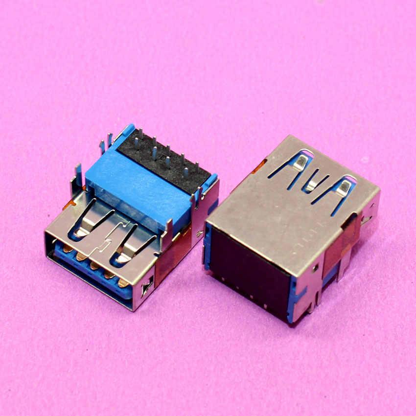YuXi laptopa i All-In-One wspólne kobiece USB 3.0 łącze typu jack pasuje do Dell Inspiron 15R-5520 5525 7520 vostro 3560 serii