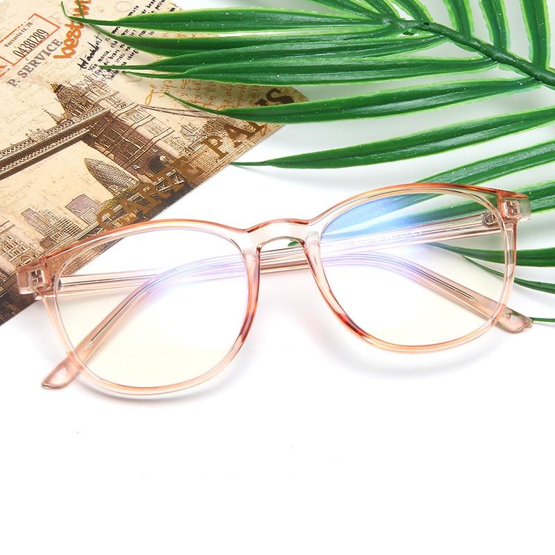 KOTTDO Vintage Plastic Round Eyeglasses Frame Women Computer Reading Eye Glasses Frames For Men Students Eyewear Glasses Frames