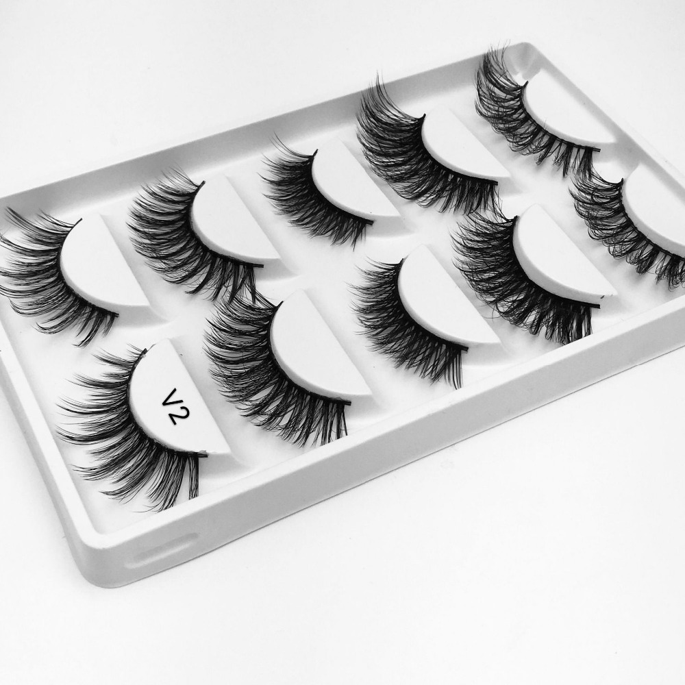 NEW Mix 5 pairs eyelashes hand made 3d mink lashes natural long soft mink eyelashes full strip lashes makeup false eyelash