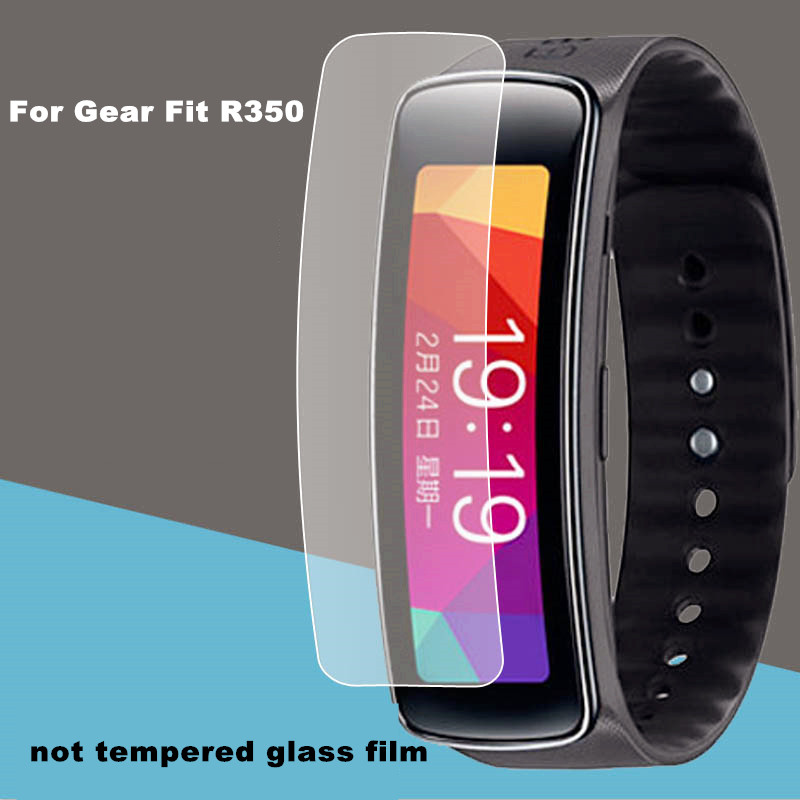 Not tempered glass 100pcs lot High Clear Screen protector for samsung Gear Fit R350 high