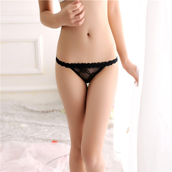 luckymily Women's Underwear Sexy Panties Lace Transparent G-String Thong Low Waist Seamless T-back Thongs Erotic Lingerie Tangas 1