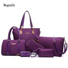 6 In 1 Satz Luxus Handtaschenfrauen-designer Oxford Umhängetasche Weibliche Vintage Tragetaschen Damen Umhängetasche Hohe qualität