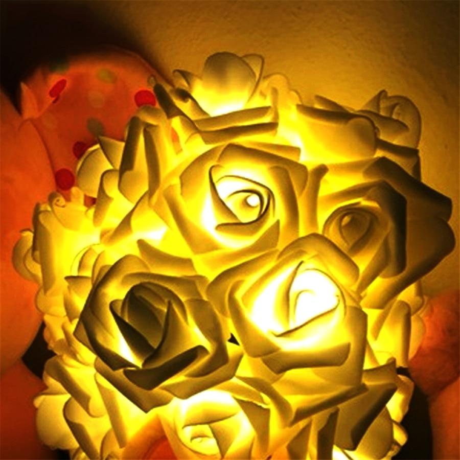 2 M 20 Stücke Rose Batterie Led String Licht Rose Fee String Für Weihnachten Xmas Party Hochzeit Dekoration Urlaub Im Freien @ Den Menschen In Ihrem TäGlichen Leben Mehr Komfort Bringen