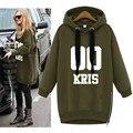 Kpop exo exobiology asphalt wool hooded hoodie large yards lovers k-pop Fleece sweatshirt hood EXO with clothes
