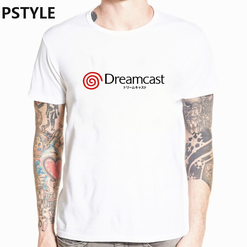 pstyle harajuku   t     shirt   dreamcast print white   t  -  shirt   drop ship summer short sleeve men   t     shirt   streetwear men tops tee