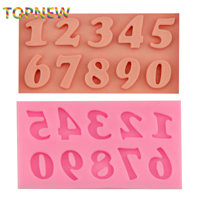 Arabic Numbers Modeling Chocolate Candy Jelly Mold Silicone Hotplate Fondant Cake Decoration Tools 1926