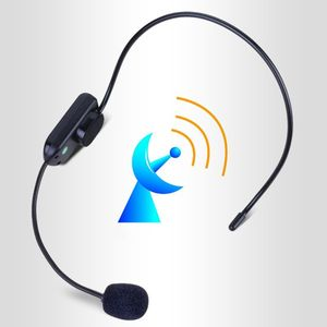 Image 3 - Black Portable FM Wireless Microphone Headset Radio Megaphone For Tour Guide Teaching Meeting Lectures Supplies
