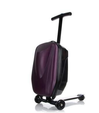 스케이트 보드 롤링 수하물 20 인치 여행 수하물 케이스 스쿠터 케이스 캐빈 수하물 가방 마이크로 스쿠터 가방 바퀴에-에서여행 가방부터 수화물 & 가방 의  그룹 2