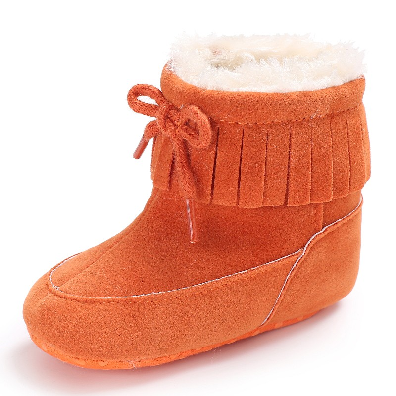 2017 Mode Kleinkind Mädchen Cut Bowknot Warme Schuhe Baby Mädchen Herbst Winter Schuhe Neugeborene Erste Wanderer Mode Schneeschuhe J2 ZuverläSsige Leistung