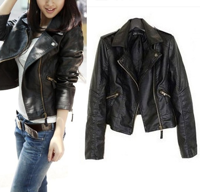 Women S Jackets 2015 New Slim Fashion Casual Vintage Black Bomber