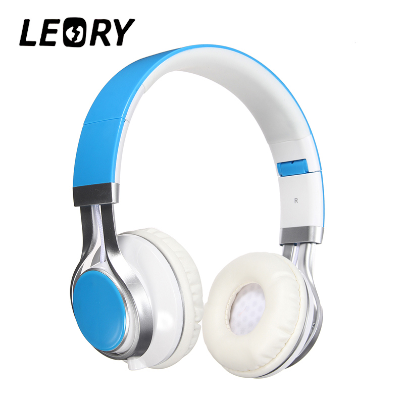 LEORY Stylish Best Headphones Fold Stereo Surround 3.5mm Headband Headset For Samsung For HTC With Microphone