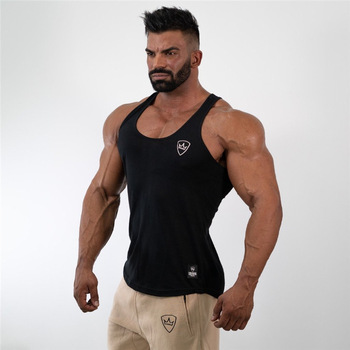 mens tank tops shirt gym tank top fitness clothing vest sleeveless cotton man canotte bodybuilding ropa hombre man clothes wear 1