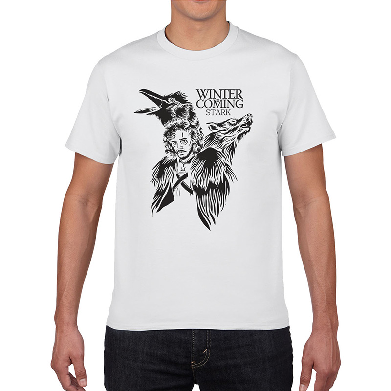 2017 New Summer Men Women T Shirts Game Of Thrones Winter Is Coming Printed Cotton Short Sleeves Tops Cool Tees