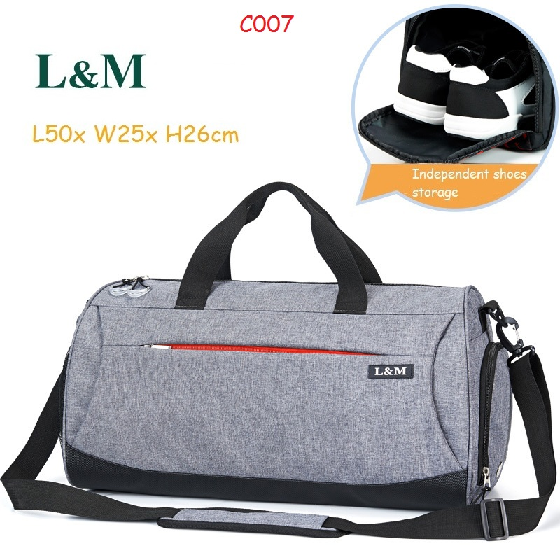 L&M Professional Large Capacity Athletic Bags Men Women Shoulder Bag Gym Bag Travel Duffel Outdoor Sport Bag With Shoes Storage