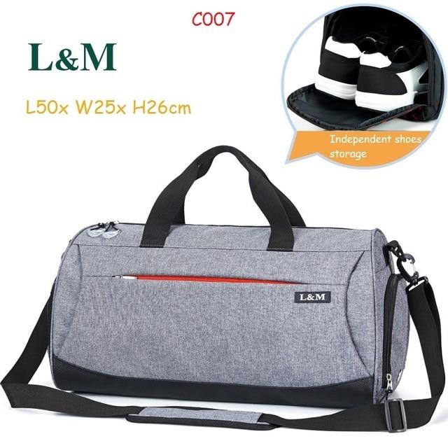 e8059d1e4834 L M Professional Large Capacity Athletic Bags Men Women Shoulder Bag Gym Bag  Travel Duffel Outdoor Sport Bag with Shoes Storage
