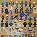 32pcs Ninjago+Nexo Knights Figures Snake Army Sensei Wu Lantern Lead Crab Jerry Hamer Building Blocks Compatible With Legoing