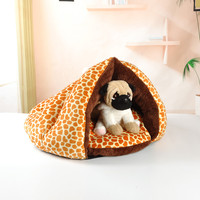 Warm Winter Puppy Cave House Sleeping Bag Mat Pad Puppy Pet Cat Dog Nest Bed F1114