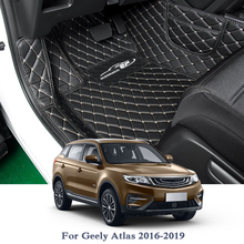 Car-Floor-Mat Carpet-Cover Geely Atlas Internal-Accessories Automobile PU for 5seats/lhd