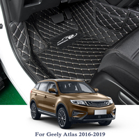 PU Car Floor Mat For Geely Atlas 2016 2019 5Seats LHD Auto Foot Pad Automobile Carpet Cover Car Styling Internal Accessories