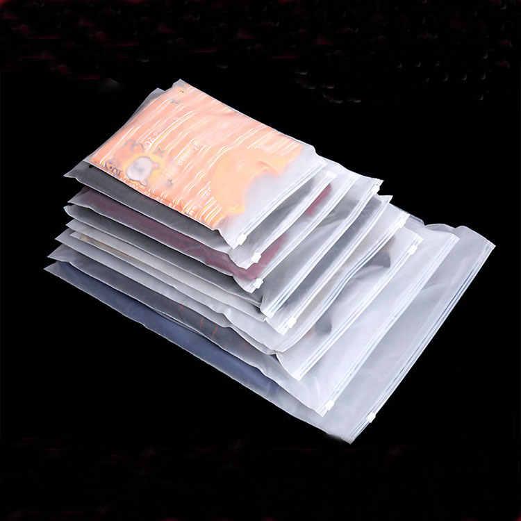 20 pcs 23x32 cm 27x35 cm PE saco de armazenamento reutilizável Trosted Zip Lock saco Plástico underwear vestuário sacos de embalagem de presente da jóia