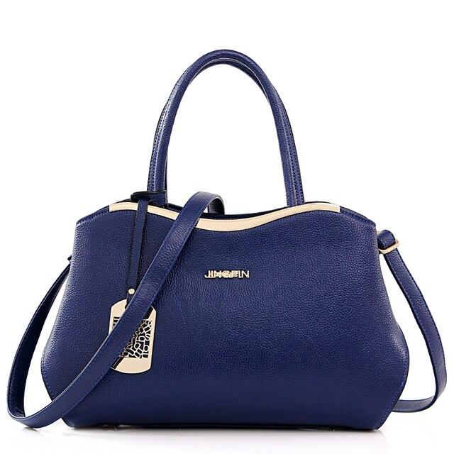 2016 New Women's pu Leather Handbag Tote Trendy Shoulder Bags Messenger Bag Cross body bag women Free shipping