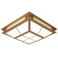 New Chinese Elegant wood LED ceiling lamps Japanese tatami room ceiling lamps Garden Restaurant log ZA MZ41