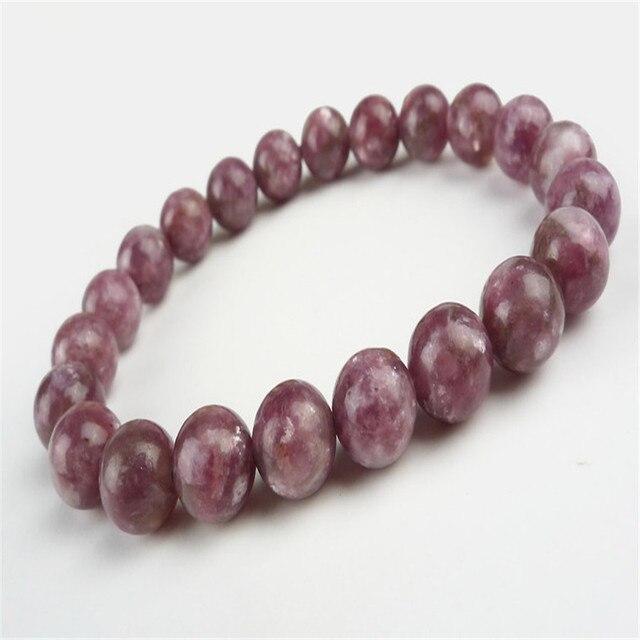 Moda Estiramento Pulseiras Para Mulheres Femme Atacado 8mm Genuine Pedra Natural Turmalina Melancia Rodada Bead Bracelet