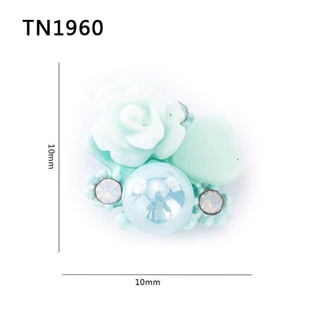 Online Shop 10Pcs/Lot 3D Nail Art Decoration Flower Design 2 Colors ...