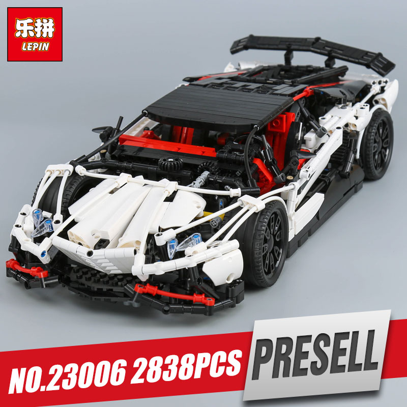 Lepin 23006 Genuine MOC Technic Series The Super Racing Car Set MOC-3918 Building Blocks Bricks Educational Toys Boy Gifts Model lepin 20054 4237pcs the moc technic series the remote control t1 classic volkswagen camper set 10220 building blocks bricks toys