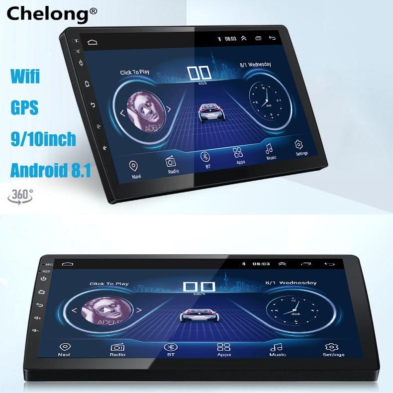 9/10 pouces Android 8.1 universel autoradio 2 din autoradio Android lecteur dvd navigation gps WIFI Bluetooth MP5 Lecteur caméra arrière