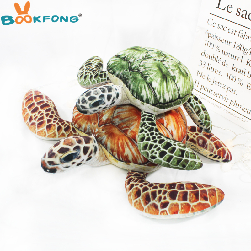 1pc Lovely Ocean Sea Turtle Plush Toys Soft Tortoise Stuffed Animal Dolls Pillow Cushion Best Gifts For Kids Friend Baby ocean creatures plush crab cushion doll cute stuffed simulative toys for baby kids birthdays gifts 27 23cm 10 5 9
