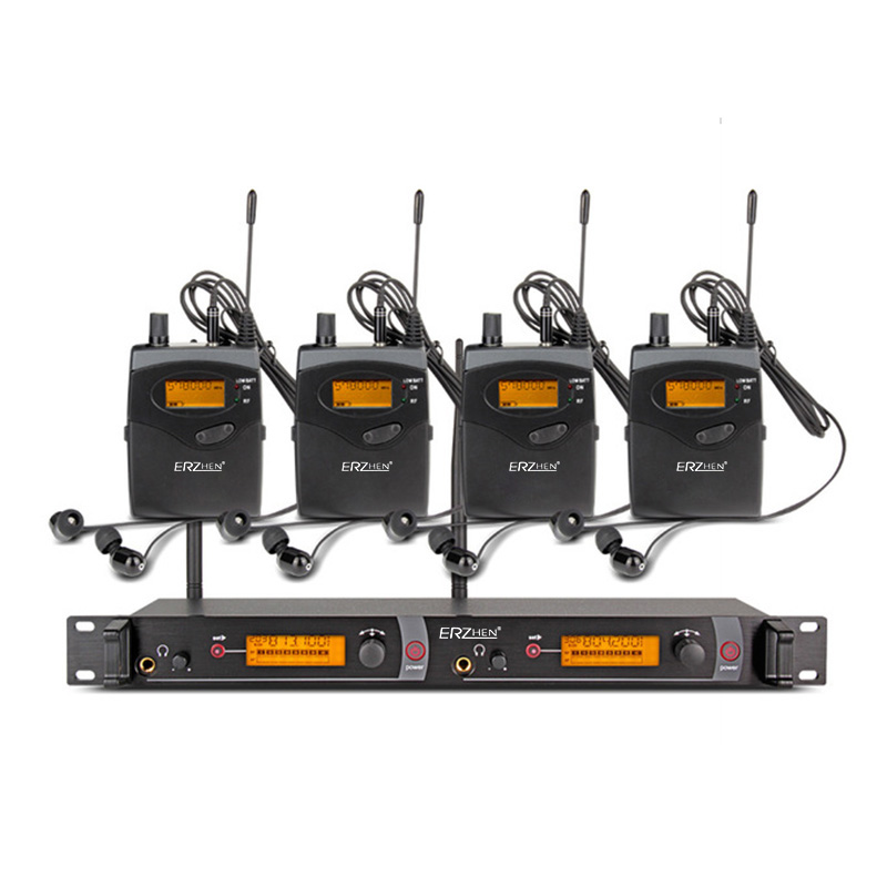ear monitor wireless system with 4 receiver EM2050 In Stage monitor Ear Monitor System 2 Channel Monitoring in ear system