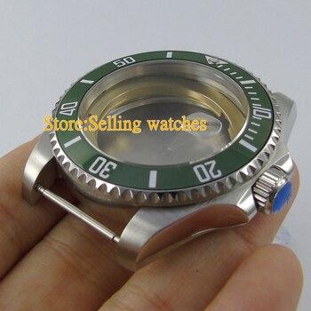 43mm Stainless Steel sapphire glass Watch Case forETA 2836 mingzhu 2813 miyota 82 series  Movement C10