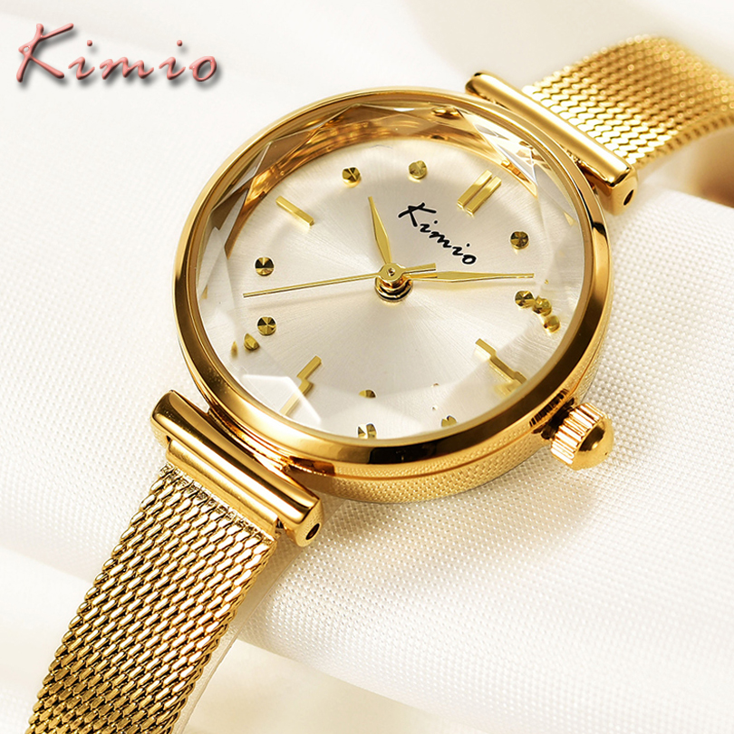 Brand KIMIO Fashion Women Watches Dress Luxury Women's Casual Full Steel Bracelet Ladies Clock Quartz Watch Relojes Mujer Femme kimio ultra thin women s bracelet watch ladies stainless steel dress watches with gift box relojes mujer relogios montre femme