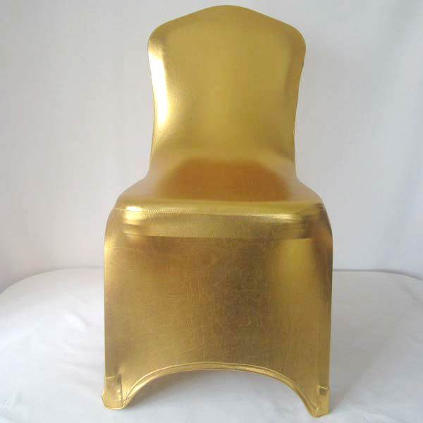 Stupendous Us 393 96 16 Off Wedfavor 100Pcs Shiny Metallic Gold Silver Spandex Chair Covers Lycra Stretch Wedding Bronzing Chair Cover For Hotel Event Party In Beatyapartments Chair Design Images Beatyapartmentscom