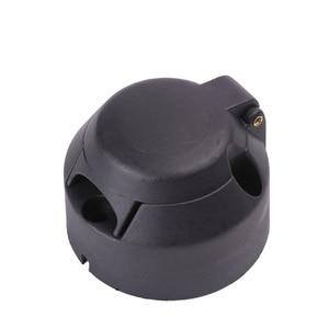 Image 3 - 12 V 7 Pino Plástico Conector Socket Trailer Tow Bar Electrics 7 Europeu forma núcleo adaptador de Tomada de carro De Plástico do pólo acessórios
