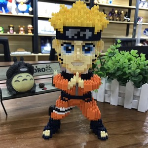 Image 3 - Balody Mini Blocks Naruto Auction Figure Cartoon Model Building Bricks for Children Funny Toys Anime Kakashi Xmas Gift 16093
