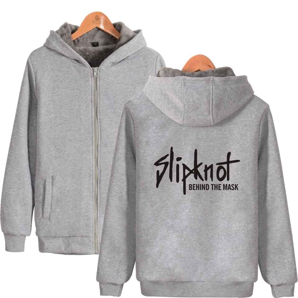Wangcangli 2017 Slipknot Rock Band Heavy Metals Hoodies Fashion Kpop Men Cap Hooded Sweatshit Leisure Clothes Plus Size XXXXL