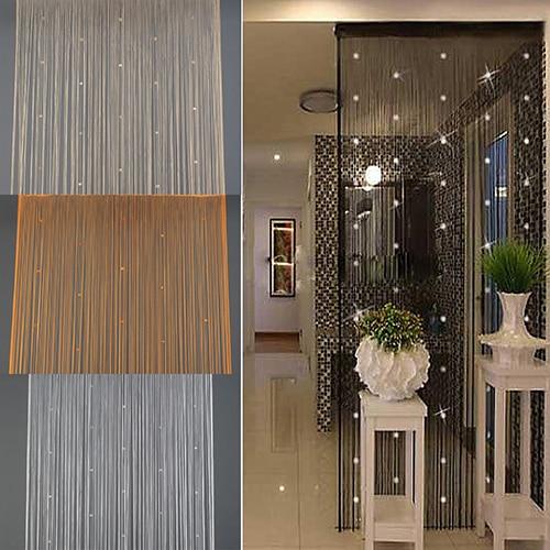 Wohnkultur Tür Fenster Strass Perlen Quaste Screen Panel Perlen Fadenvorhang
