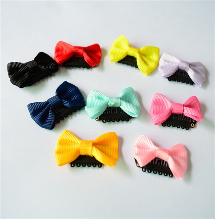 HTB1etkDJVXXXXbqXVXXq6xXFXXXb Cute 10-Pieces Solid Polka Dot Mini Bow Baby Hair Grips - 2 Styles