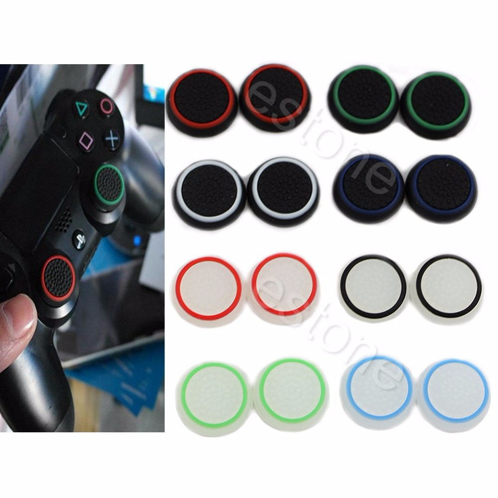1 Set 2pc Thumbstick Cap Cover Analog 360 Controller Thumb Stick Grip For PS4 XBOX ONE