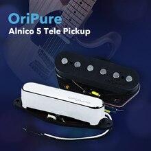Oripure 핸드 메이드 픽업 alnico 5 tele 픽업 세트 기타 넥 브릿지 픽업 텔레 스타일 일렉트릭 기타 액세서리
