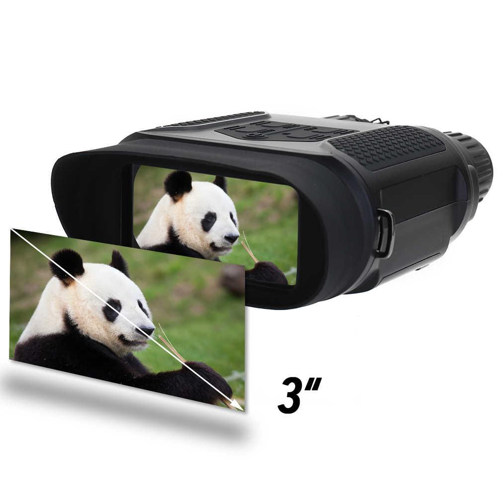 منظار رؤية ليلية نظارات المكبر عدسة مكبرة عالية الوضوح التكبير الأشعة تحت الحمراء نطاق رقمي مع بطاقة 4G TF