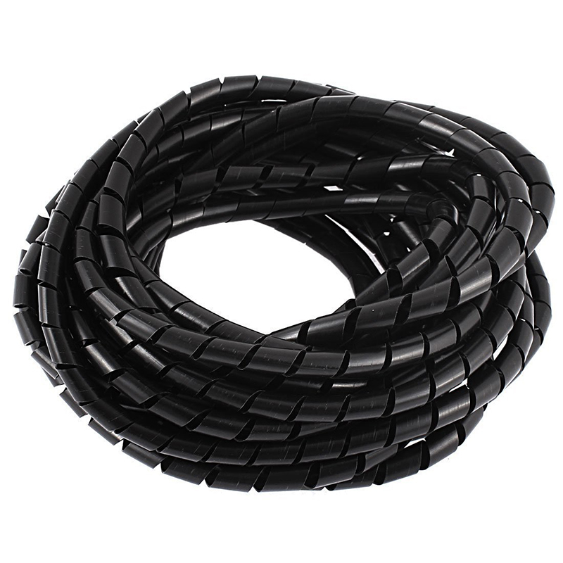 Promotion! 8M 25ft 8mm Black Wire Spiral Wrap Sleeving Band Tube Cable Protector