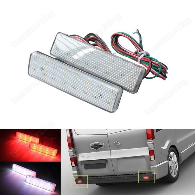 2 stücke LED Heckstoßstange Reflektor Licht Für Opel/Vauxhall Vivaro ...