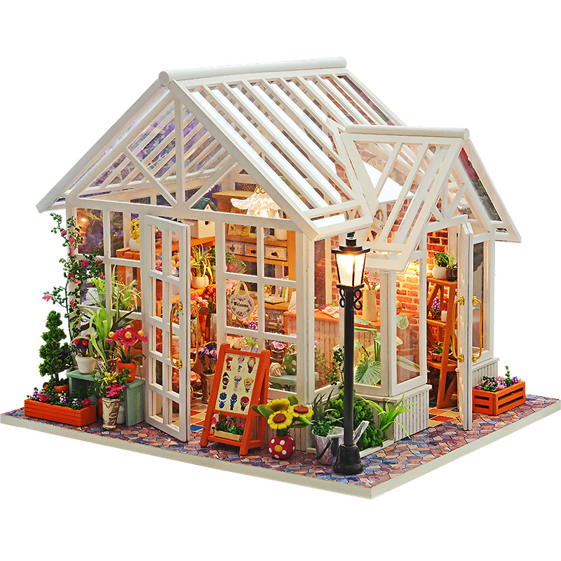 DIY Dollhouse Wooden Doll Houses Miniatures for dolls dollhouse Furniture Kit doll houses Toys for Children
